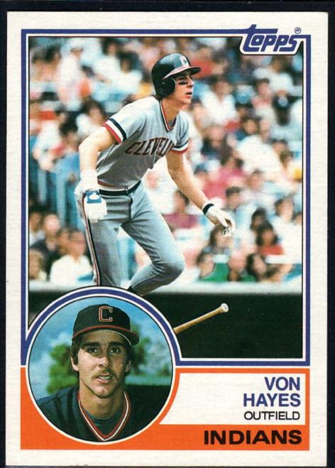 1983 Topps #325 Von Hayes VG Cleveland Indians