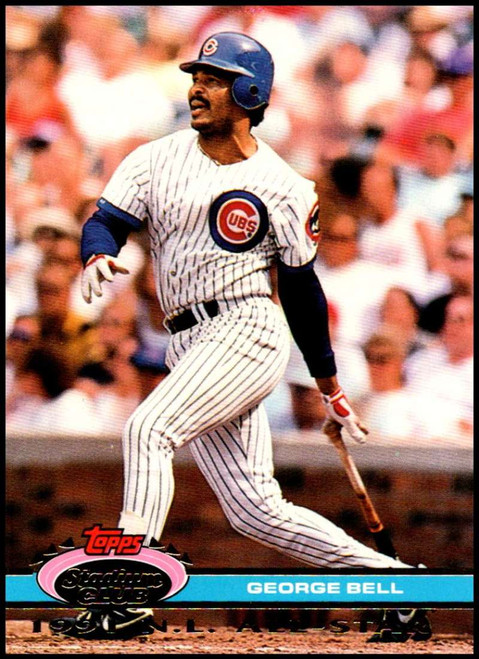 1992 Stadium Club Dome #13 George Bell VG Chicago Cubs