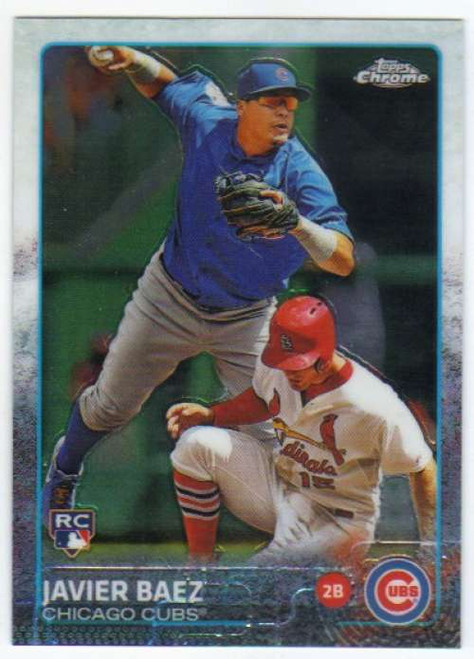 SOLD 48857 2015 Topps Chrome #89 Javier Baez VG RC Rookie Chicago Cubs