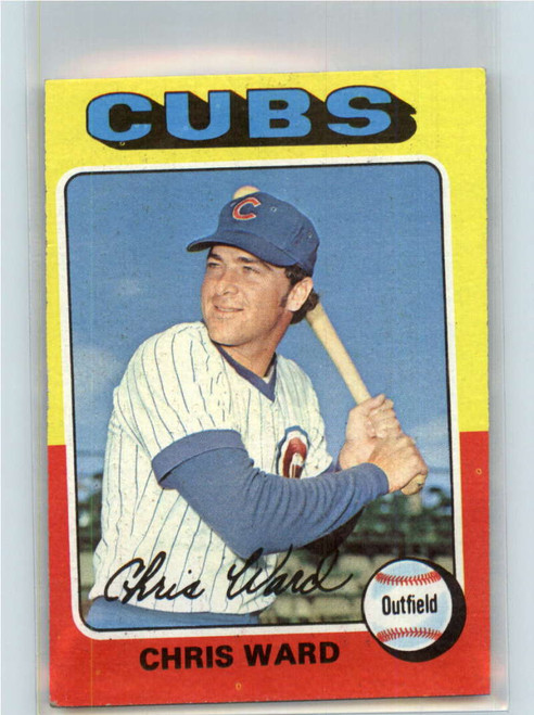 1975 Topps #587 Chris Ward VG RC Rookie Chicago Cubs