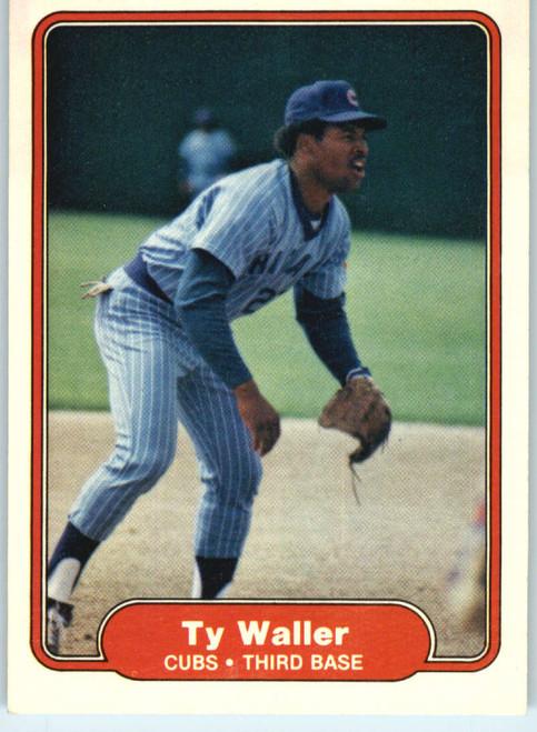 1982 Fleer #607 Ty Waller VG Chicago Cubs
