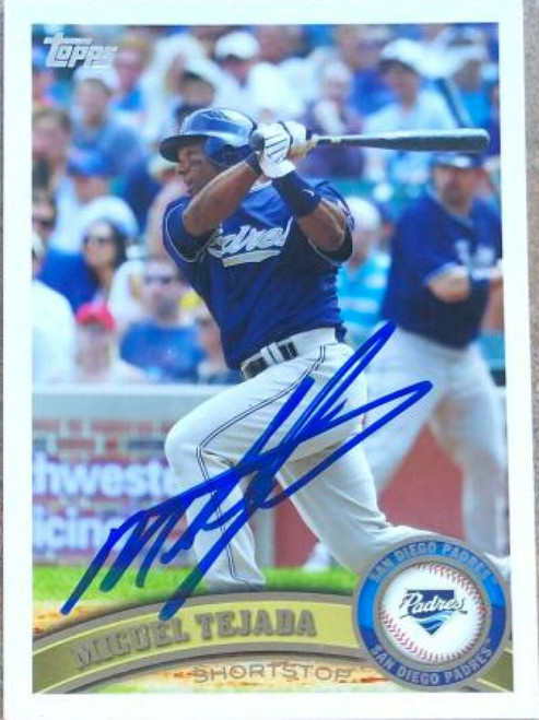 Miguel Tejada Autographed 2011 Topps #133