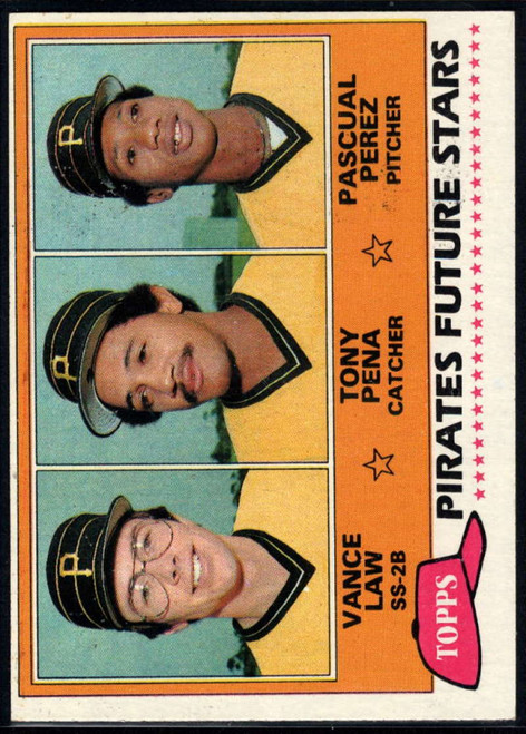 1981 Topps #551 Vance Law/Tony Pena/Pascual Perez VG RC Rookie Pittsburgh Pirates