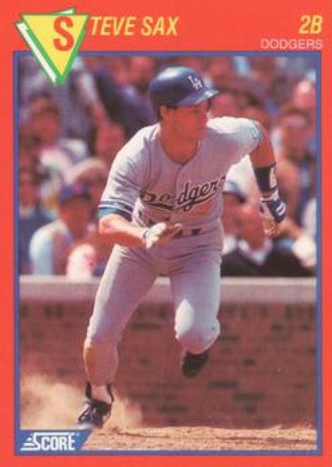 1989 Score Baseball's 100 Hottest Players #33 Steve Sax NM-MT Los Angeles Dodgers