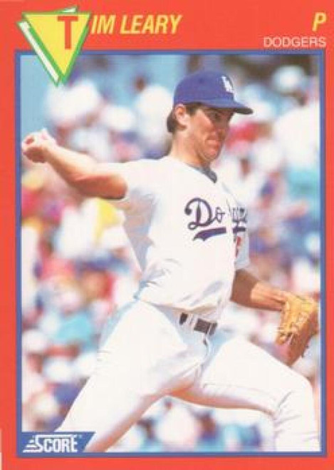 1989 Score Baseball's 100 Hottest Players #9 Tim Leary NM-MT Los Angeles Dodgers