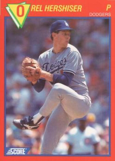 1989 Score Baseball's 100 Hottest Players #35 Orel Hershiser NM-MT Los Angeles Dodgers