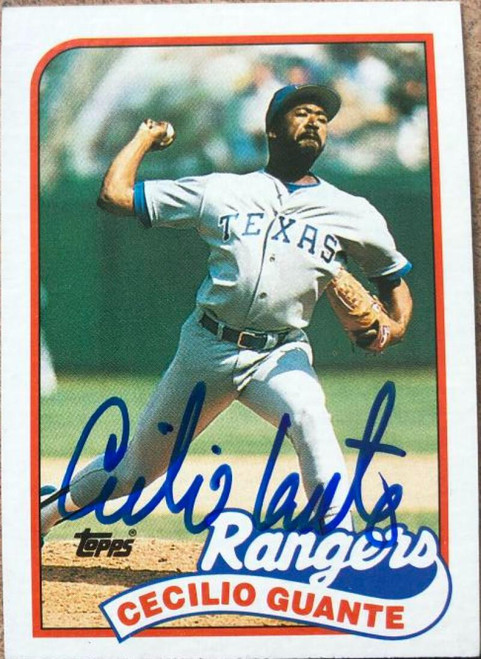 Cecilio Guante Autographed 1989 Topps #766
