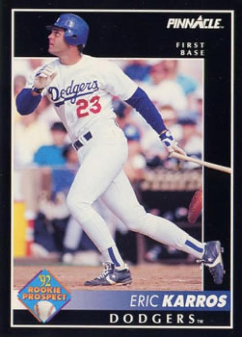 1992 Pinnacle #256 Eric Karros VG Los Angeles Dodgers