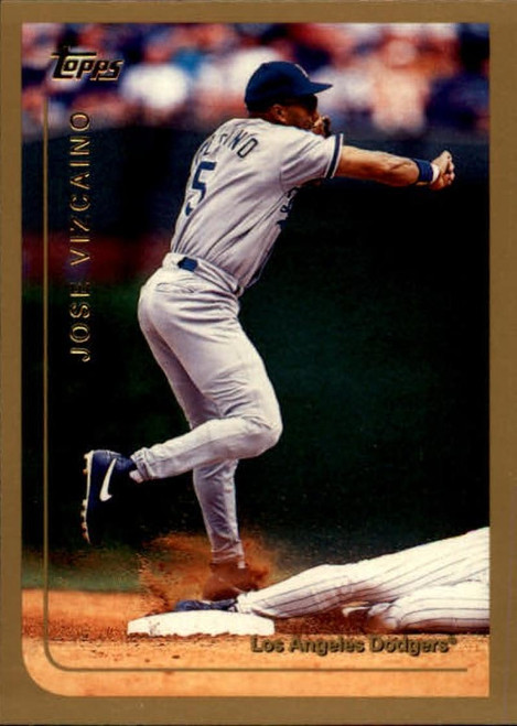 1999 Topps #8 Jose Vizcaino VG Los Angeles Dodgers