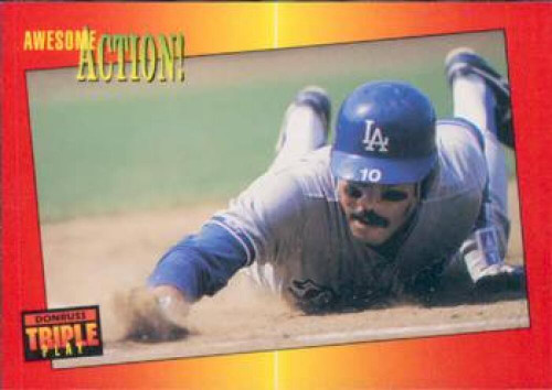 1992 Triple Play #73 Juan Samuel VG Los Angeles Dodgers