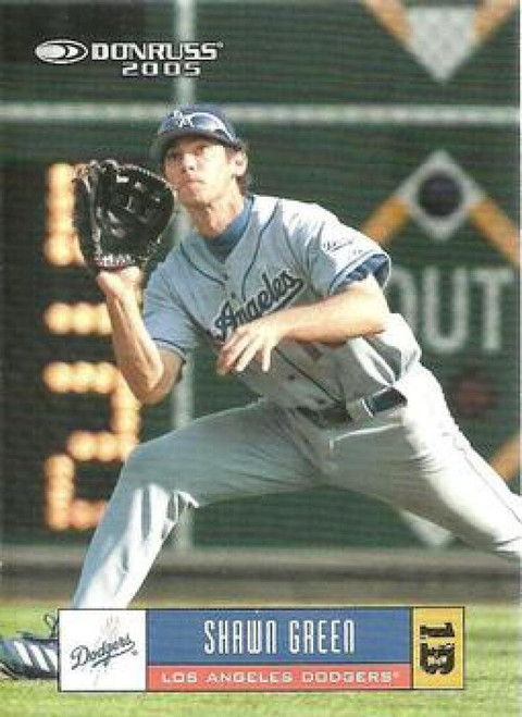 2005 Donruss #13 Shawn Green VG Los Angeles Dodgers