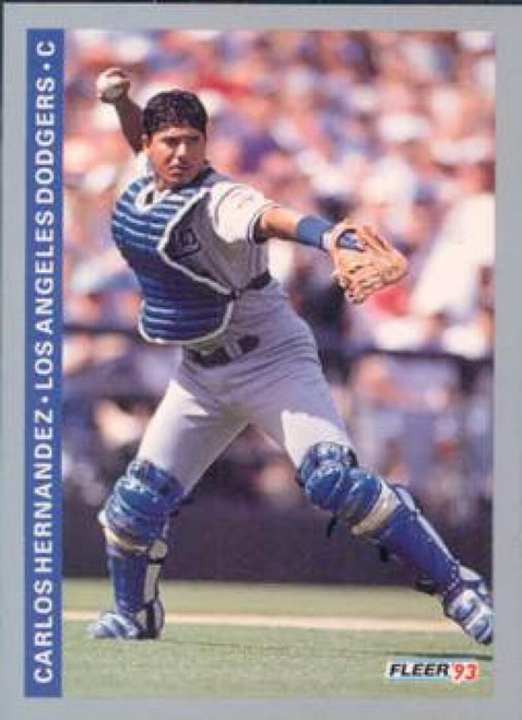 1993 Fleer #62 Carlos Hernandez VG Los Angeles Dodgers