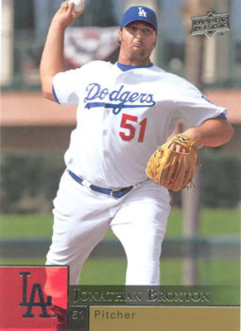 2009 Upper Deck #205 Jonathan Broxton NM  Los Angeles Dodgers
