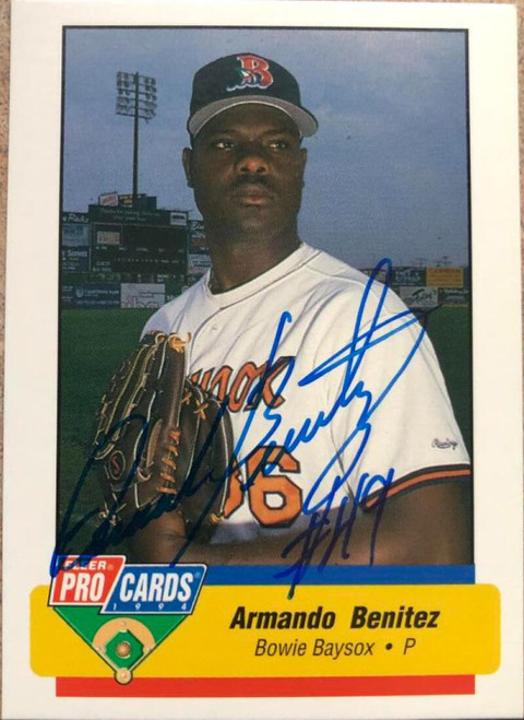 Armando Benitez Autographed 1994 Fleer ProCards #2405