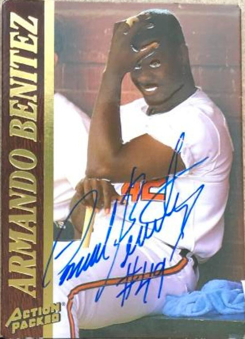 Armando Benitez Autographed 1995 Action Packed #42