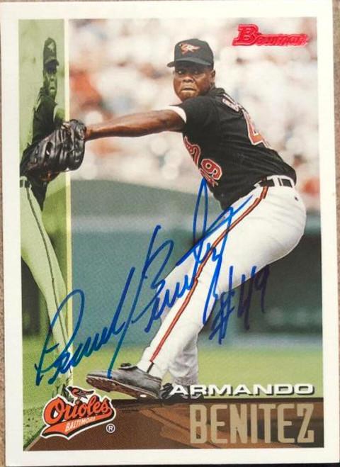 Armando Benitez Autographed 1995 Bowman #429