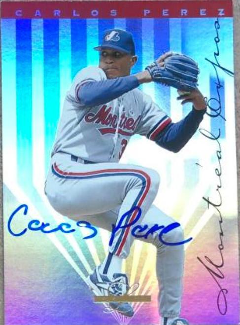 Carlos Perez Autographed 1995 Leaf Limited #103 Rookie Card