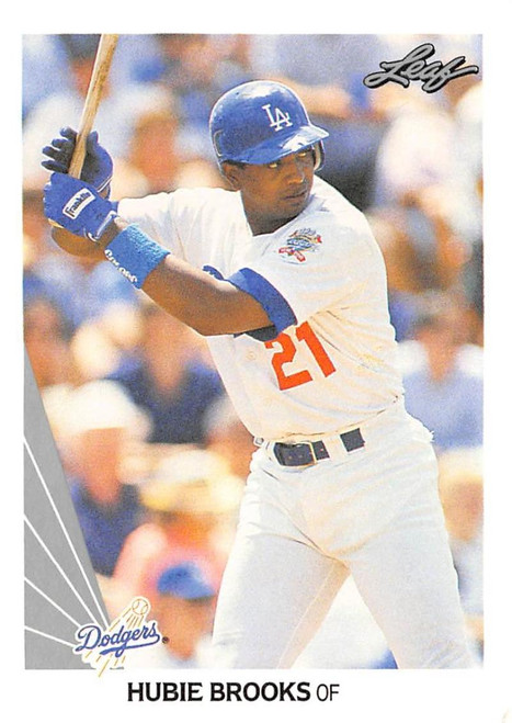 1990 Leaf #16 Hubie Brooks VG Los Angeles Dodgers