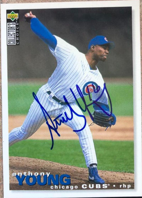 Anthony Young Autographed 1995 Collectors Choice #201