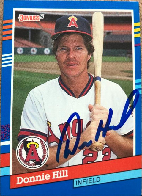 Donnie Hill Autographed 1991 Donruss #376 ID: 116154
