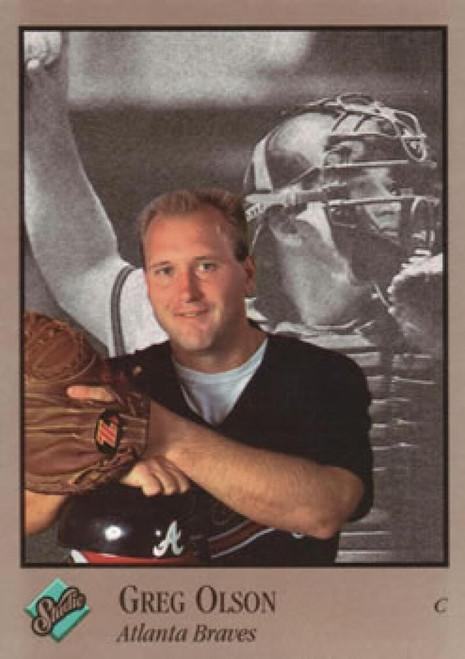 1992 Studio #7 Greg Olson VG Atlanta Braves