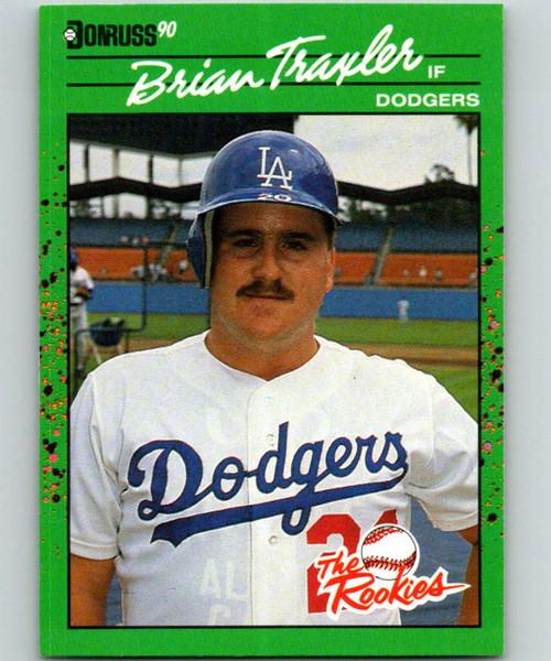 1990 Donruss Rookies #38 Brian Traxler VG RC Rookie Los Angeles Dodgers