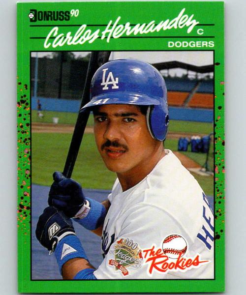 1990 Donruss Rookies #37 Carlos Hernandez VG RC Rookie Los Angeles Dodgers