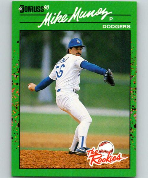 1990 Donruss Rookies #8 Mike Munoz VG RC Rookie Los Angeles Dodgers