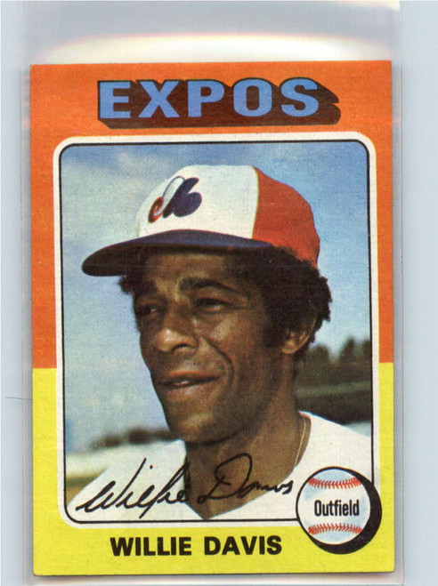 1975 Topps #10 Willie Davis VG Montreal Expos