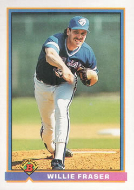 1991 Bowman #6 Willie Fraser VG Toronto Blue Jays