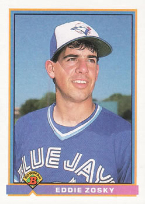 1991 Bowman #17 Eddie Zosky VG Toronto Blue Jays