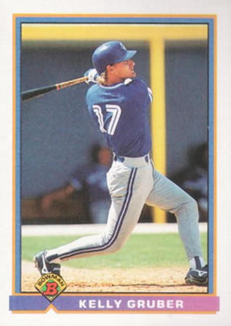 1991 Bowman #18 Kelly Gruber VG Toronto Blue Jays