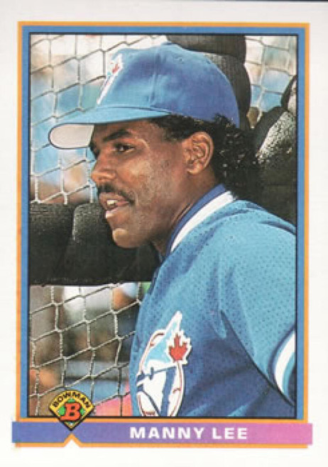 1991 Bowman #21 Manuel Lee VG Toronto Blue Jays