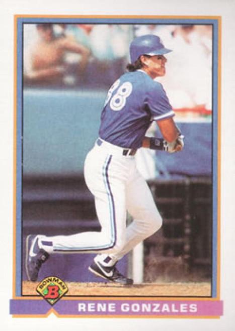 1991 Bowman #25 Rene Gonzales VG Toronto Blue Jays
