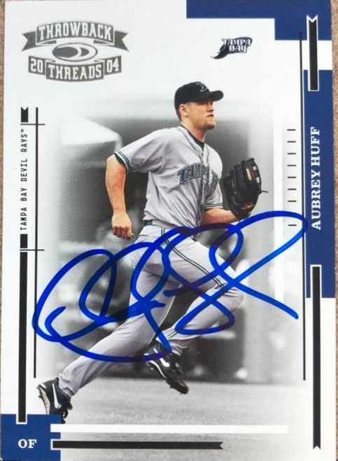 Aubrey Huff Autographed 2004 Donruss Throwback Threads #182