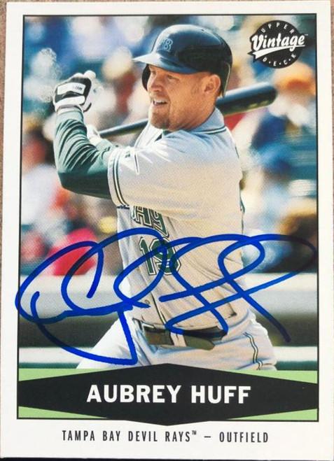 Aubrey Huff Autographed 2004 Upper Deck Vintage #125