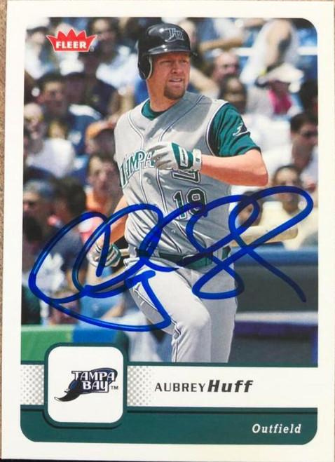 SOLD 116386 Aubrey Huff Autographed 2006 Fleer #111