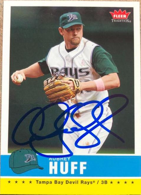 Aubrey Huff Autographed 2006 Fleer Tradition #65