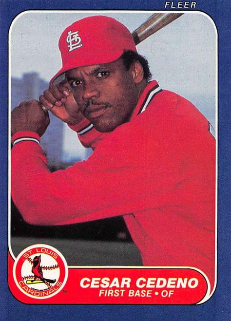 1986 Fleer #29 Cesar Cedeno VG St. Louis Cardinals