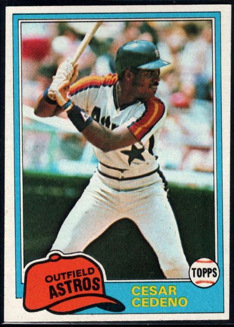 1981 Topps #190 Cesar Cedeno VG Houston Astros