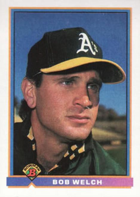 1991 Bowman #215 Bob Welch VG Oakland Athletics