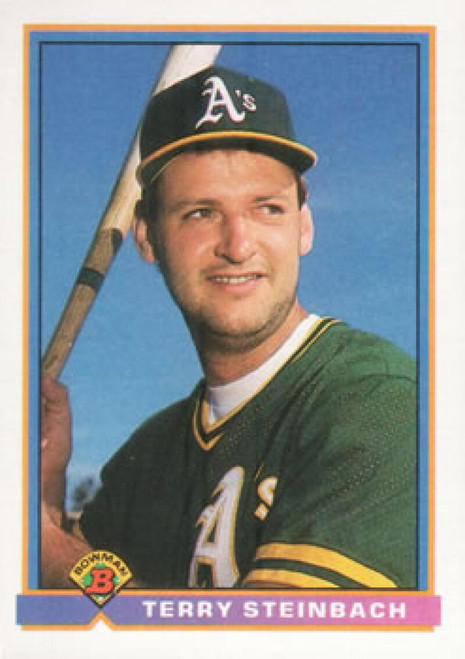 1991 Bowman #216 Terry Steinbach VG Oakland Athletics