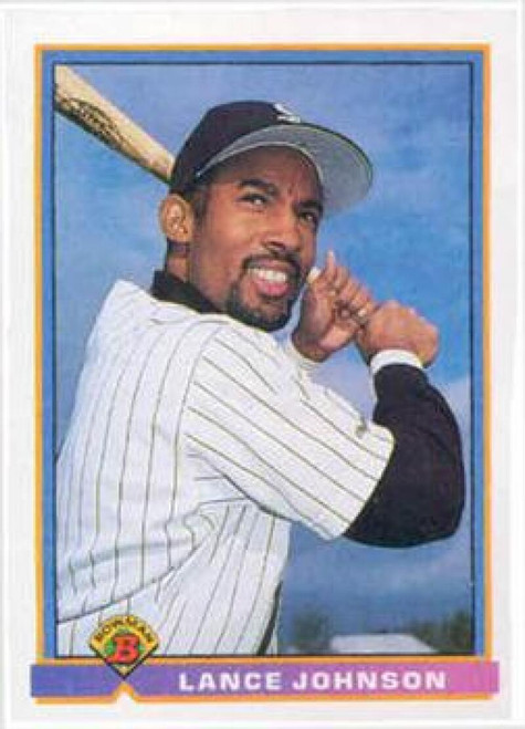 1991 Bowman #349 Lance Johnson VG Chicago White Sox