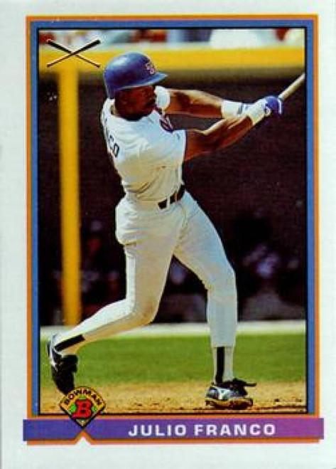 1991 Bowman #368 Julio Franco VG Texas Rangers