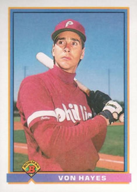 1991 Bowman #487 Von Hayes VG Philadelphia Phillies