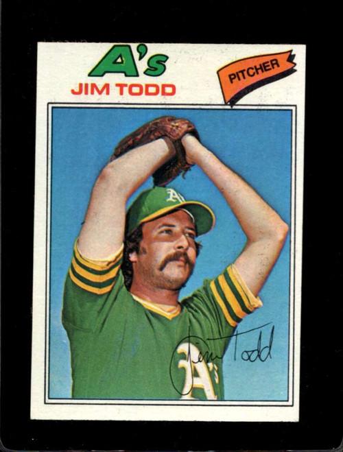 1977 Topps #31 Jim Todd VG Oakland Athletics