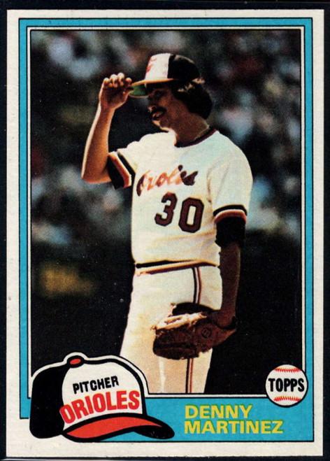 1981 Topps #367 Denny Martinez VG Baltimore Orioles