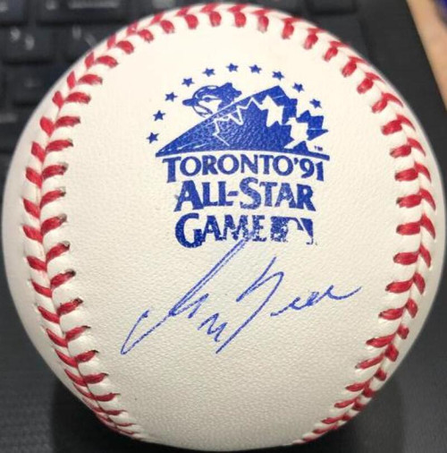 George Bell Autographed 1991 All-Star Game Baseball