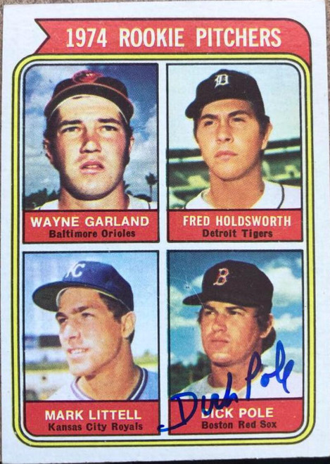 Dick Pole Autographed 1974 Topps #596