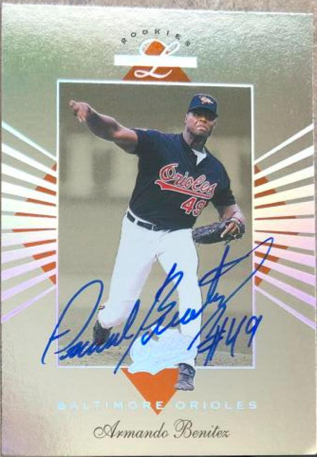 Armando Benitez Autographed 1994 Leaf Limited Rookies #74 Rookie Card